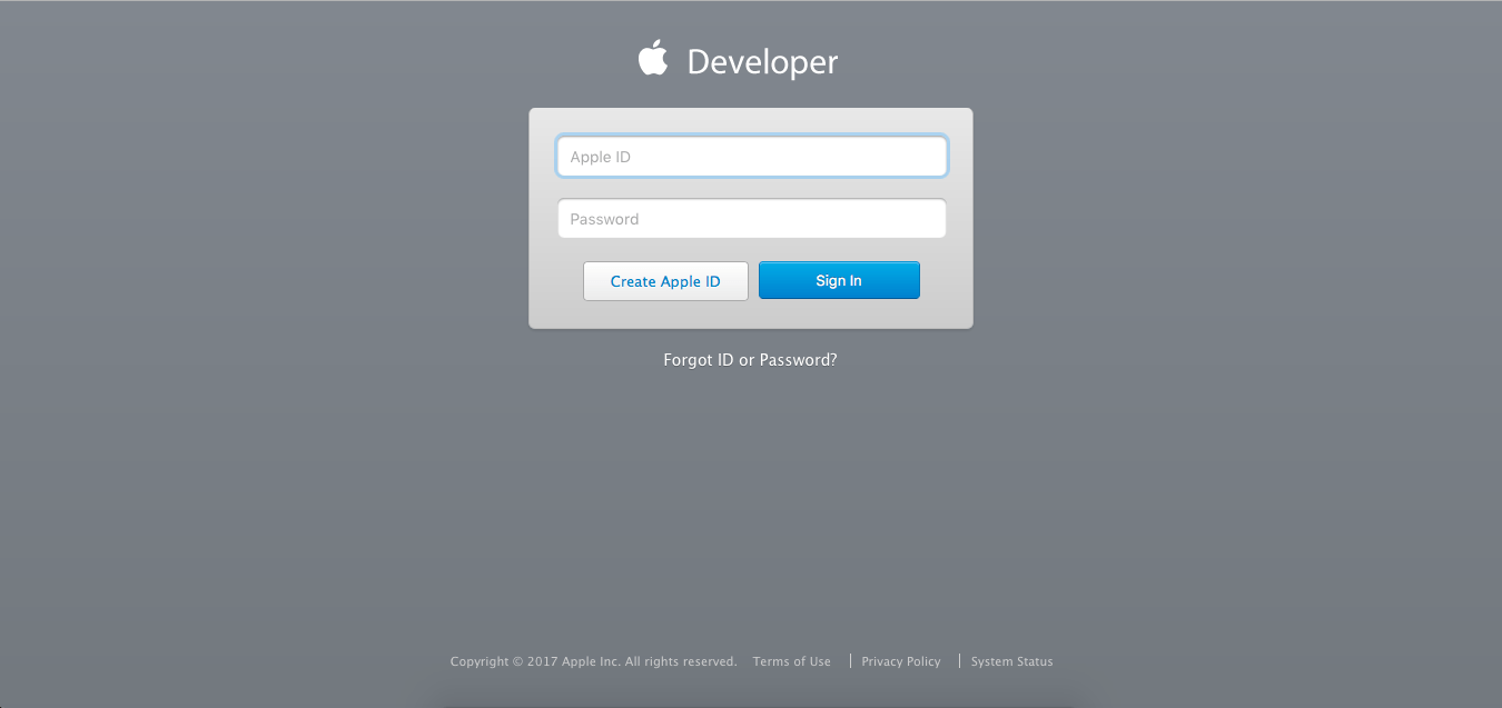 Setup Apple developer account